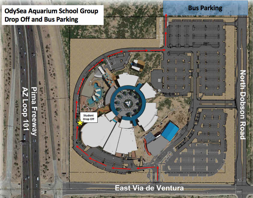Group drop off and parking