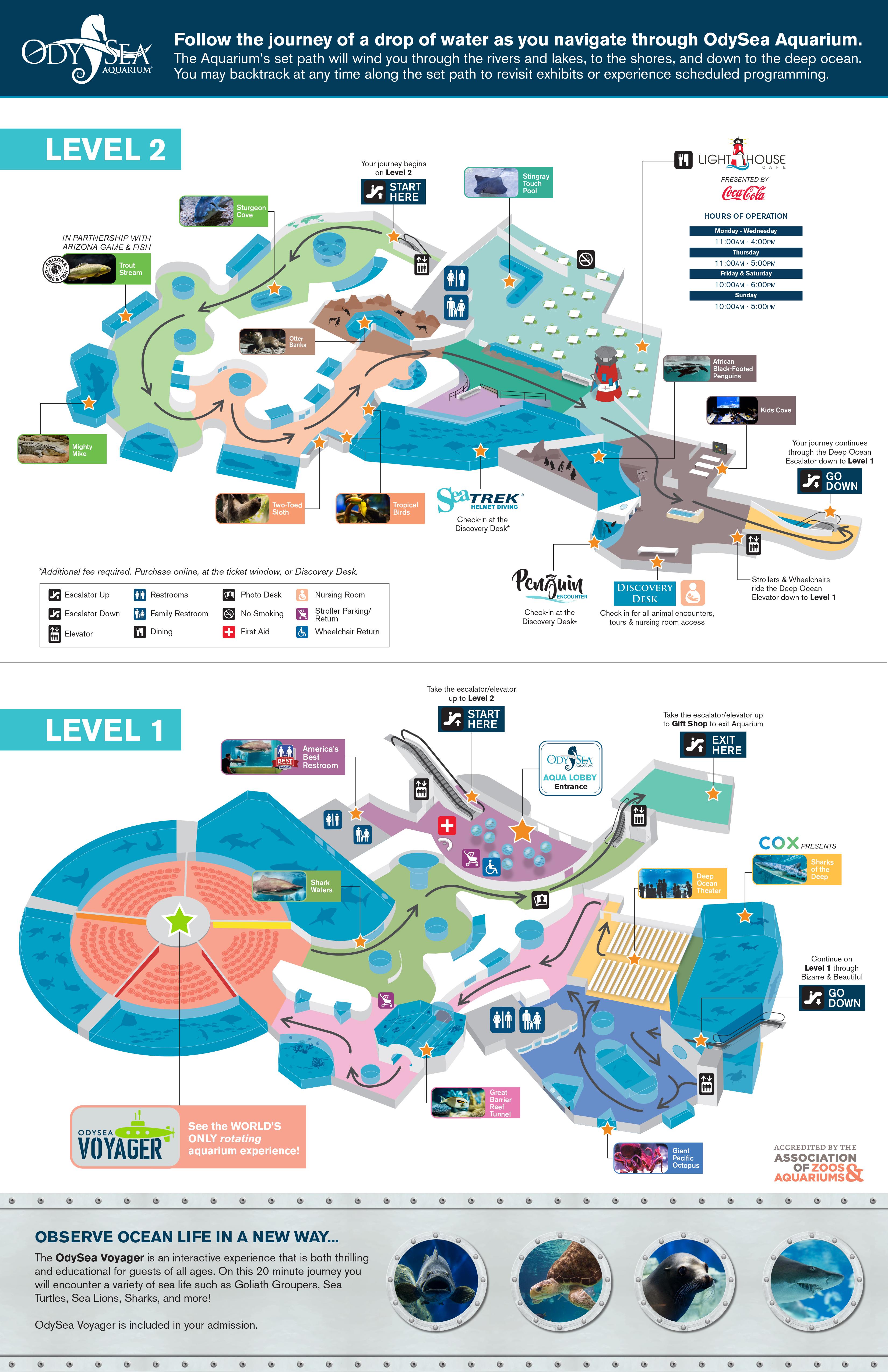 OdySea Aquarium Map