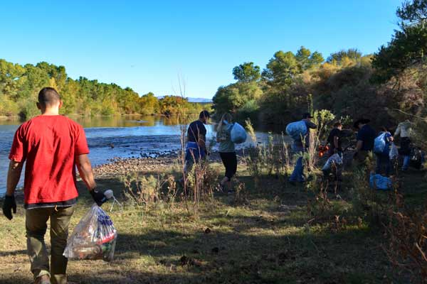 Salt River Clean Up Group Walking